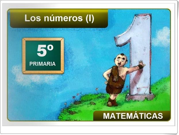 LOS NÚMEROS (I) (Aplicación interactiva de Matemáticas de Primaria)