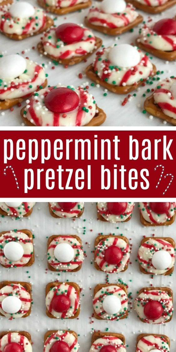 Peppermint Bark Pretzel Bites