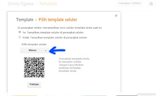 pengaturan template blog responsive