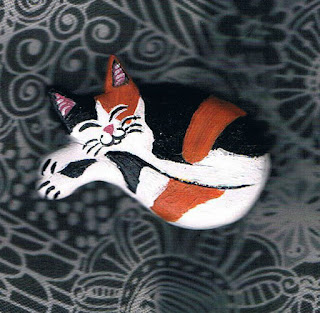 calico Cat brooch on Etsy
