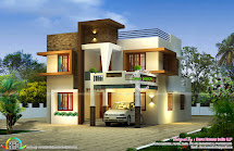 Contemporary East Facing House Plan - Kerala Home Design