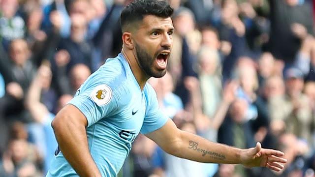Sergio Aguero Manchester City Vs Burnley