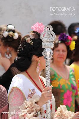 Cetro Cofradía Virgen de la Cabeza Lopera