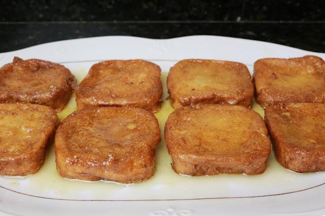 Torrijas mini caseras de miel