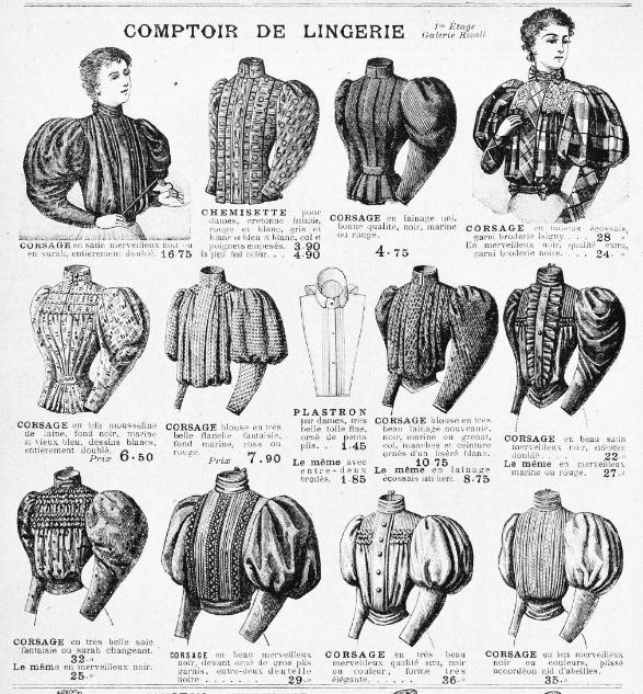 Blouses, catalogue des Grands Magasins du Louvre, 1895