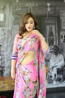 Angela Krislinzki Rogue Movie Fame Telugu Actress in Saree Backless Choli 061.JPG