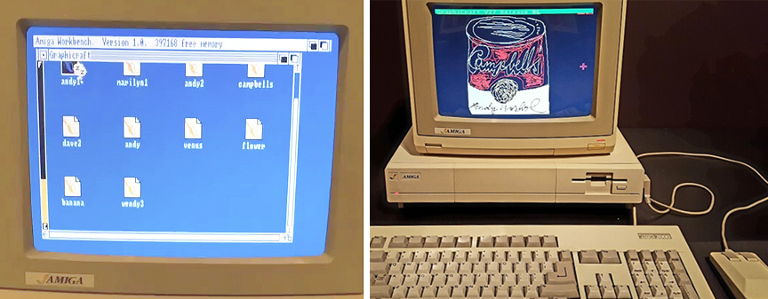 Warhol used an Amiga 1000 to create digital art