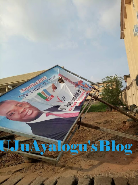 Nwoye decries destruction of campaign billboards