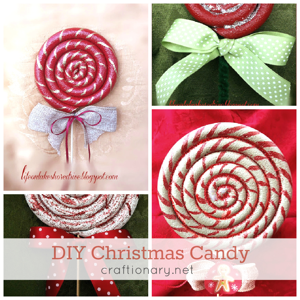 diy christmas candy christmas candy lollipops - Lollipop Christmas Decorations