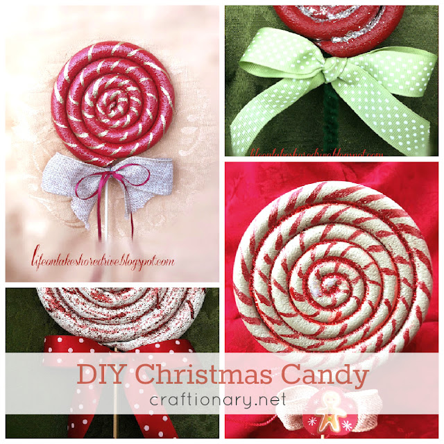 Christmas candy lollipops