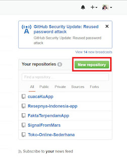 Cara Membuat Repository Baru Pada GitHub
