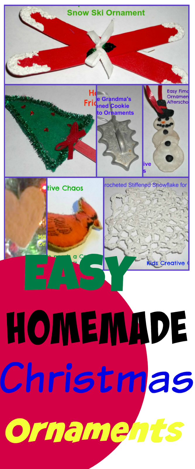 7 easy homemade handmade Christmas Ornament Decorations for the Tree