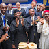 Prof Joseph Ahaneku in one of his best moments with Acting President Yomi Osinbajo and Governor Willie Obiano and National President National Association of Law Teachers (NALT), Prof Nwabueze Okeke with others