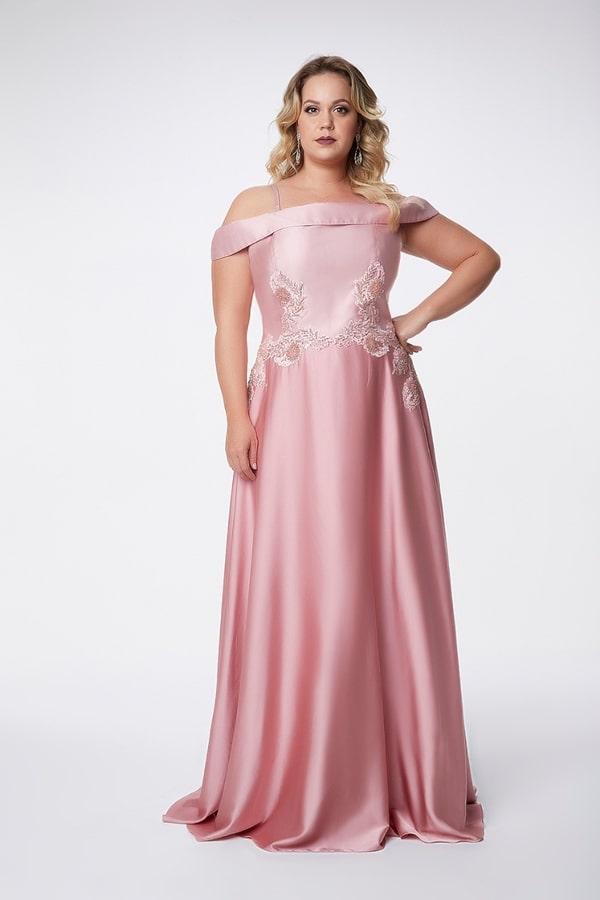 vestido longo rosa para mãe dos noivos