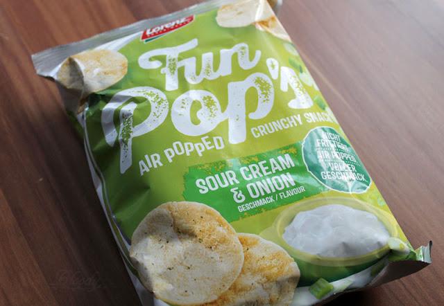 Die neuen FunPop's Sour Cream & Onion aus Kichererbsen und Kartoffeln.