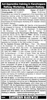 ER Kanchrapara-Railway-Workshop-ITI-Trade-Apprentice-Notification