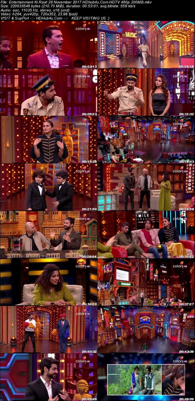 Entertainment Ki Raat 26th November 2017 480p HDTV 200MB Download