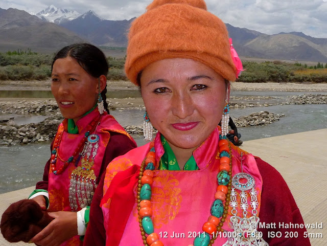 people, portrait, street portrait, Northern India, Ladakh, Leh, Ladakhi woman, traditional costume, silk costume, goncha, Facing the World, © Matt Hahnewald