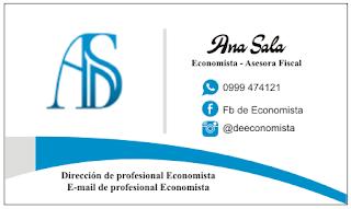 Para Economista las mejores tarjetas de presentación
