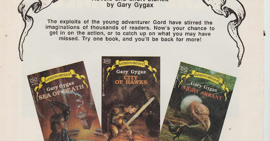 Gygax's Gord the Rogue Series Ad From Dragon