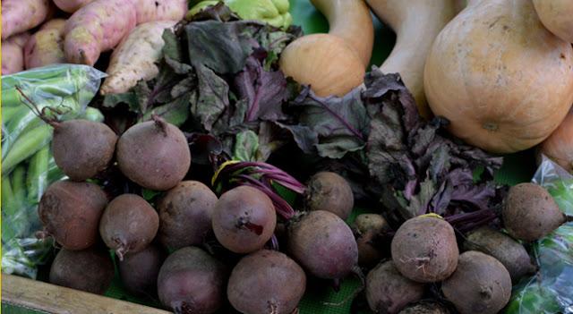 caixa com vegetais