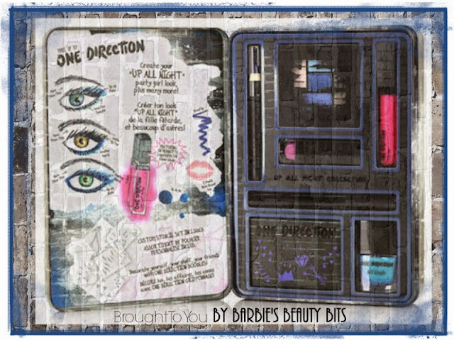 A Sneak Peek Into One Directions New Makeup Line; Up All Night Kit, By Barbie's Beauty Bits
