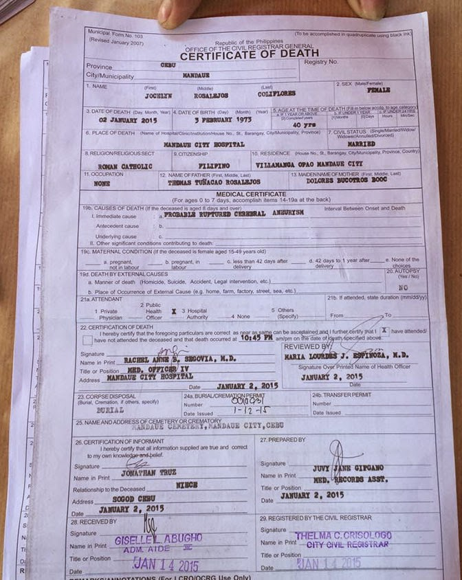 Death certificate massachusetts example images certificate sample of death certificate philippines images certificate sample of death certificate philippines images certificate sample of yelopaper Choice Image