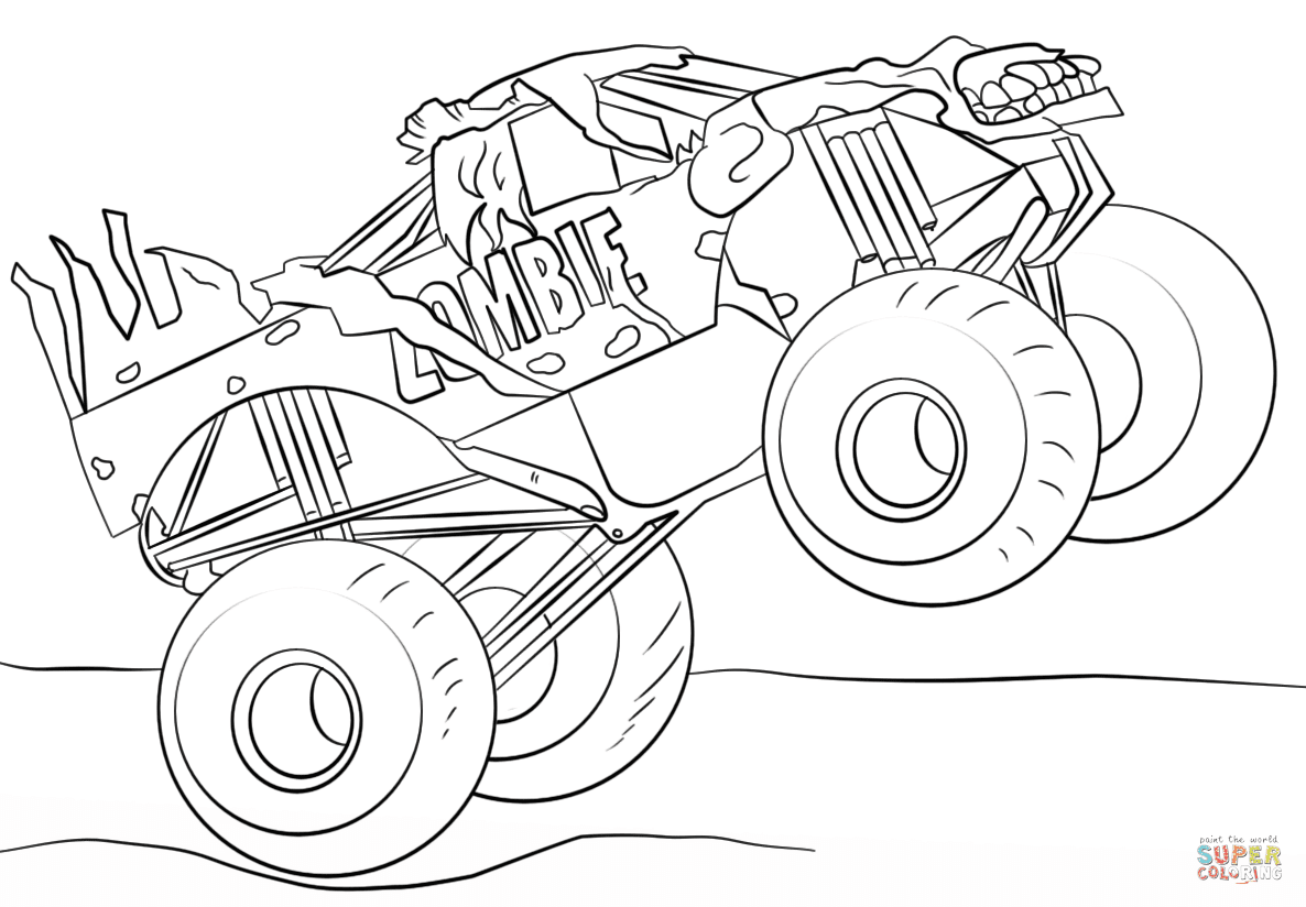 Unique Monster Truck Coloring Pages Library - Free ...