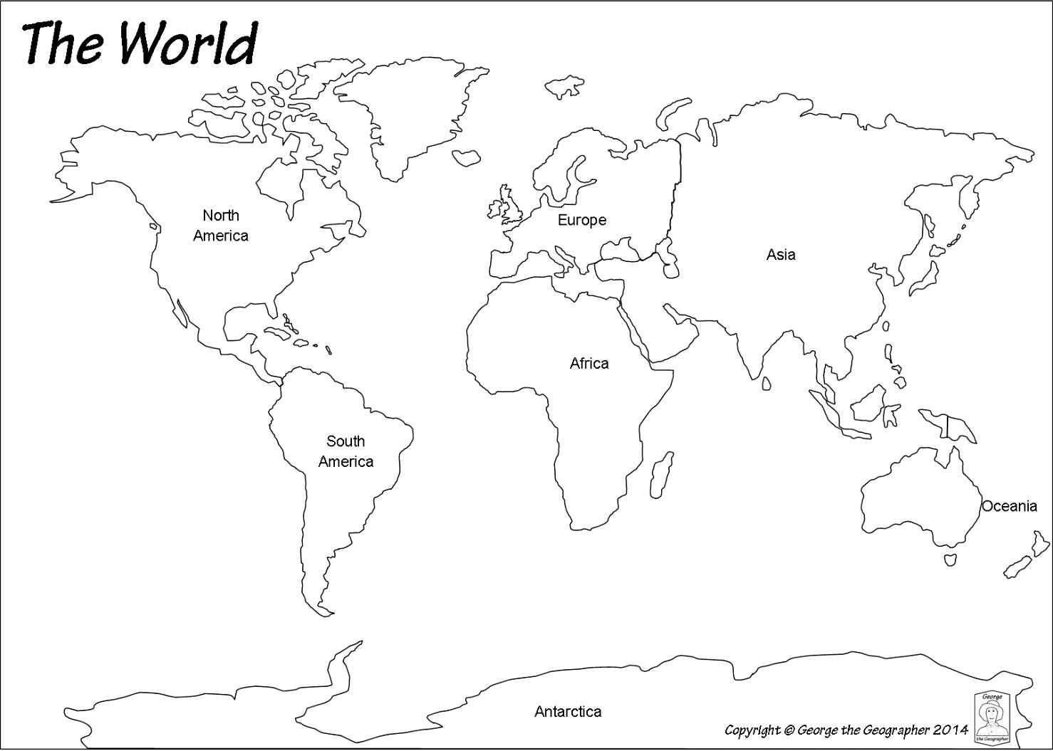 La 24 animals around the world diy teaching aids then i distributed a world map template see below to each pupils i just printed it in a6 size one a4 with four pictures of world map to save the use gumiabroncs Gallery