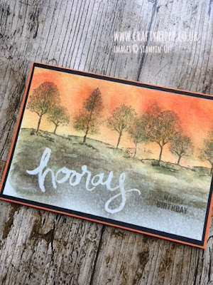 Make this Brusho and Lovely as a Tree Card by Stampin' Up!