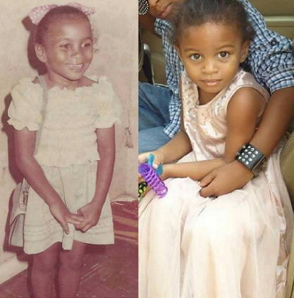 ibinabo fiberesima childhood photo