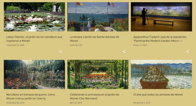 Monet, jardines, nenúfares y pintura