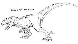 Giganotosaurus carolinii Coloring Pages