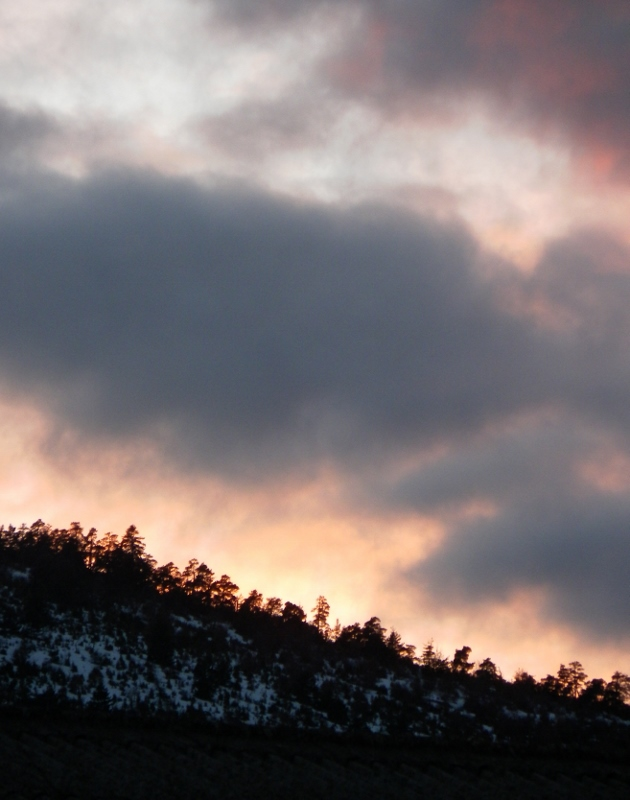 coucher de soleil, Vergons, Alpes de Haute Provence