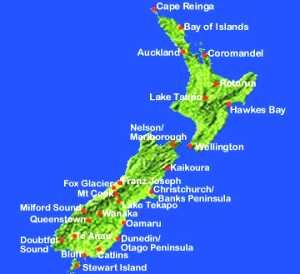 Cartina Nuova Zelanda.Searching Another Life Luglio 2011