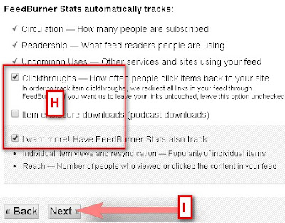 Track FeedBurner Email Subscribe