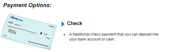 Payment methods provided by send earnings