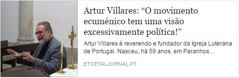 Entrevista Rev. Artur Villares
