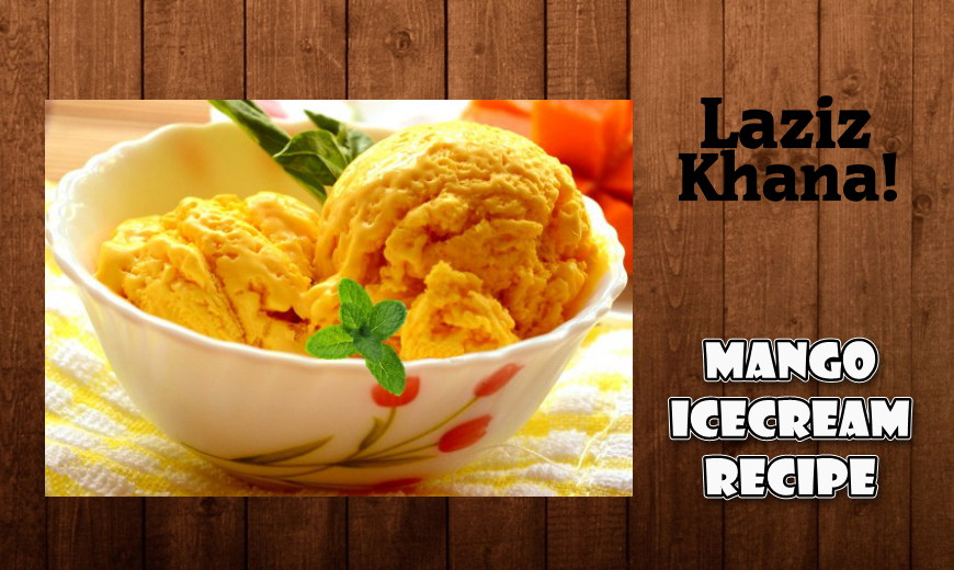 Mango Ice Cream Recipe in Roman English - Mango Ice Cream Banane ka Tarika