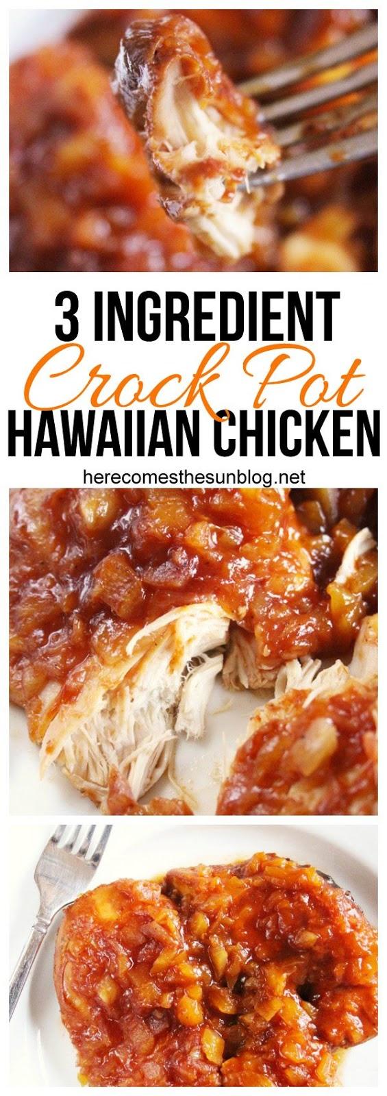 CROCK POT HAWAIIAN CHICKEN RECIPE