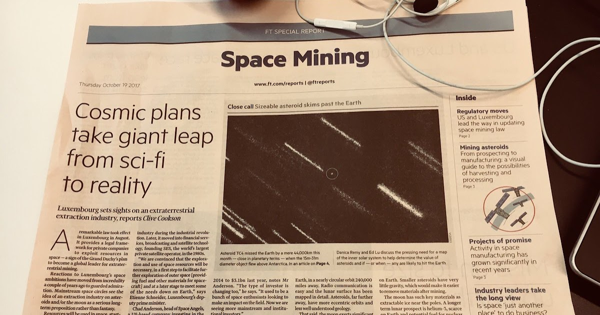 The Commercial Space Blog: EXTRA! EXTRA! Financial Times EXPOSES