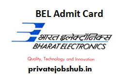 BEL Admit Card