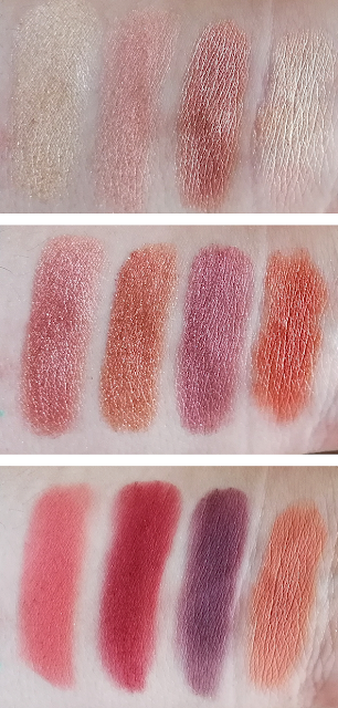 Swatches She Palette Fem Rosa Colourpop x Karrueche