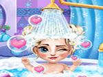 لعبة استحمام الطفلة