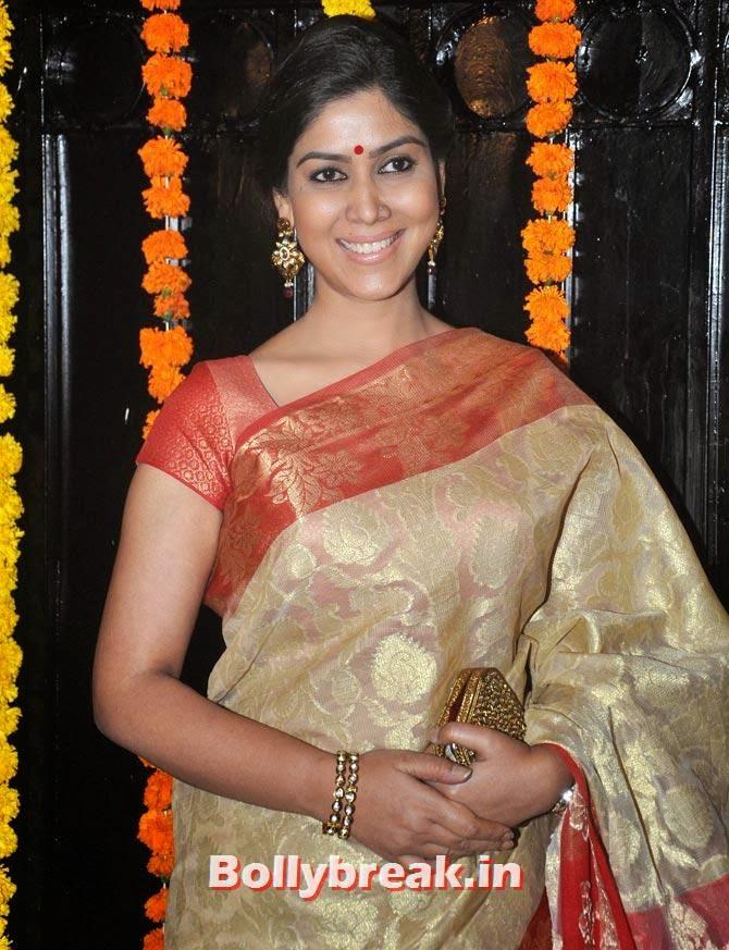 Saakshi Tanwar, Ekta Kapoor's Diwali bash 2013