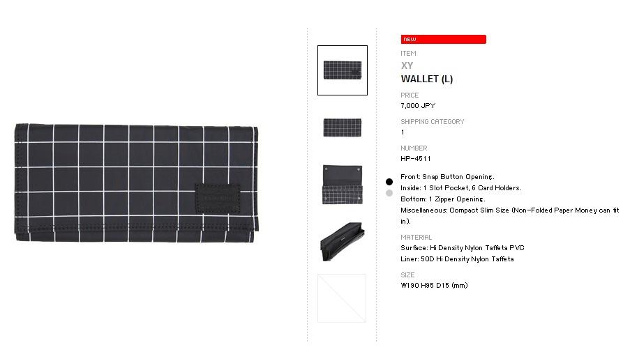 0d3c64133344 FUCK HYPE  Head Porter Stellar   XY Wallet (L) Pre-Order