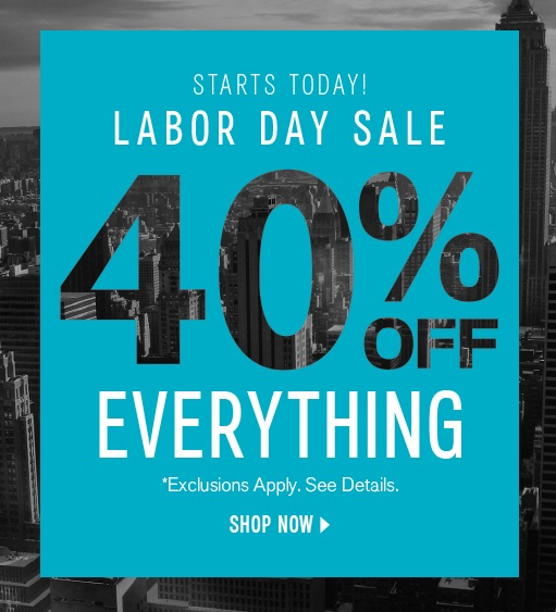 Labor Day Sale: Express Labor Day Sale. 40% Off Summer-to-Fall Favorites