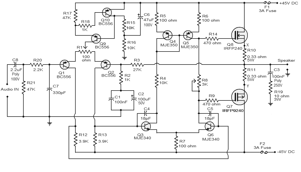 Audio Amplifier Circuits