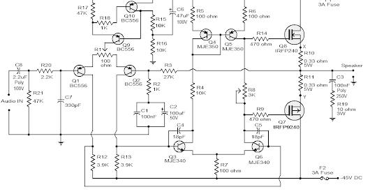 100W Subwoofer Amplifier Circuit Diagram | Amplifier Circuits Google