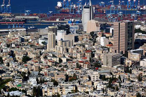 Parte baixa da cidade de Haifa - Israel
